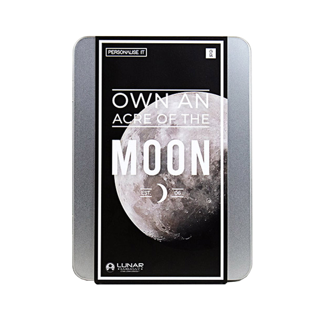 gift republic own an acre of the moon in tin packaging