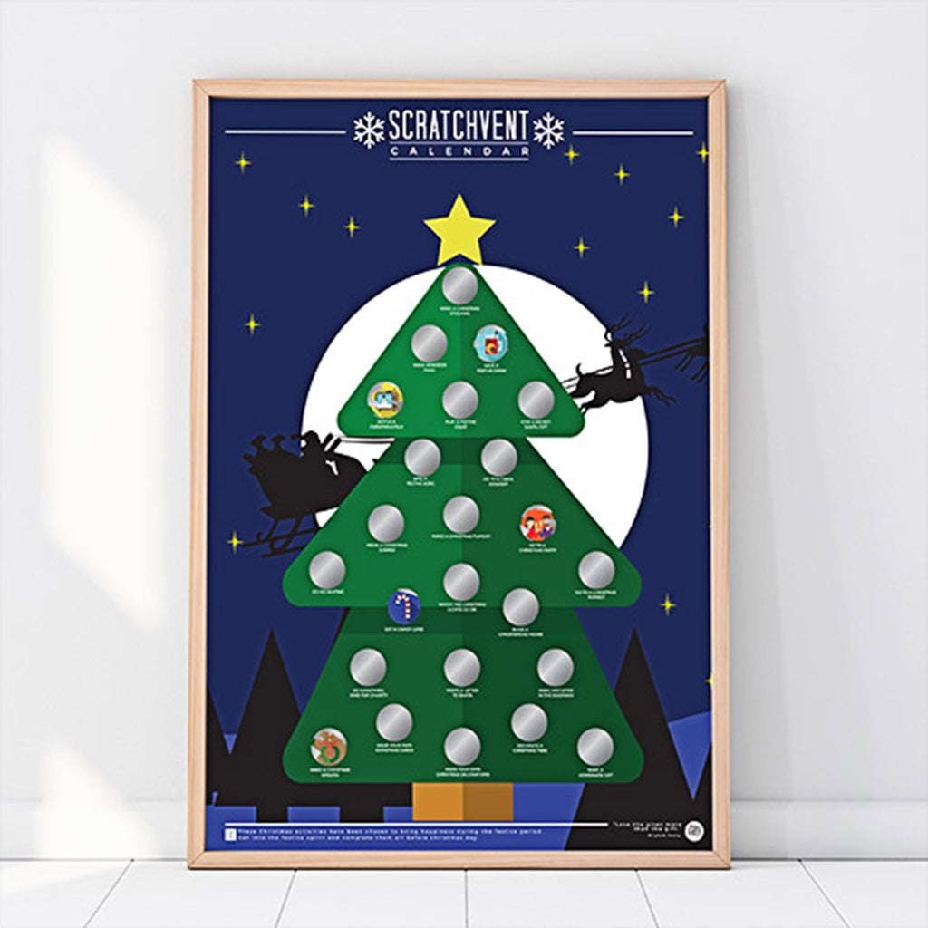 gift republic 2019 stratchvent scratch off activity advent calendar poster framed