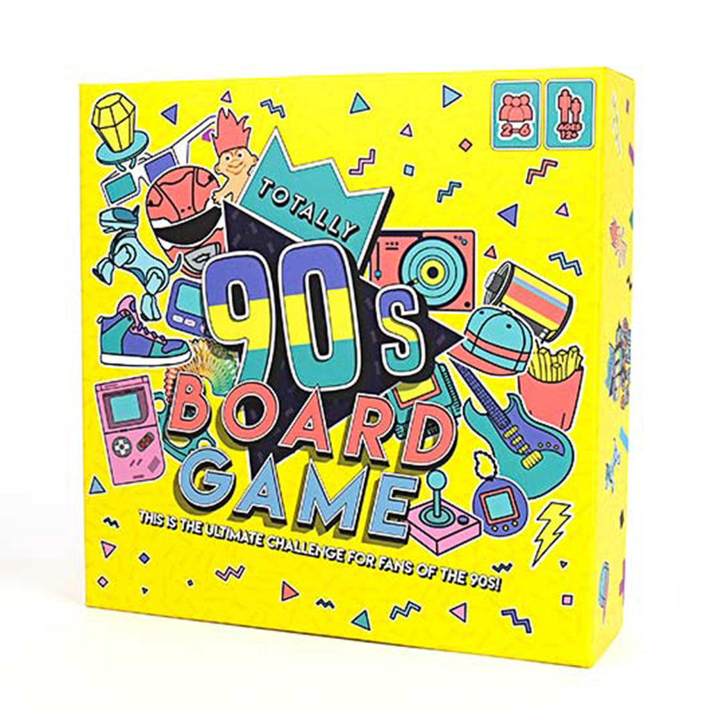 gift republic totally 90's board game family friendly game box front