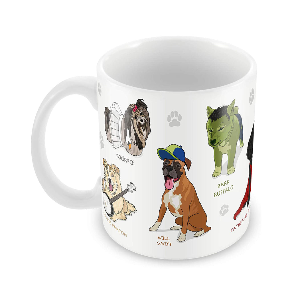 ginger fox celebridogs celebrity dogs ceramic coffee mug front