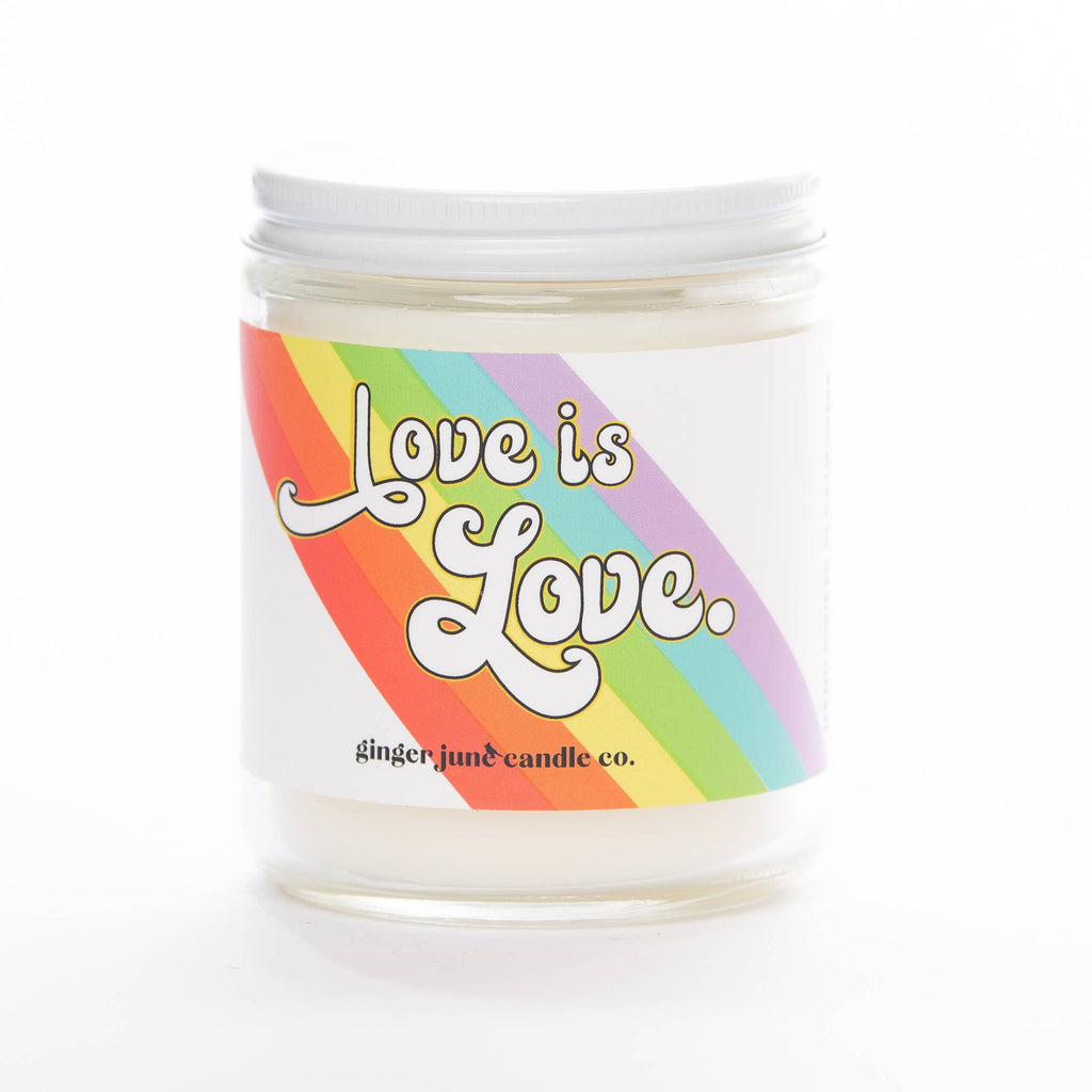 ginger june 9 ounce love is love gardenia honeysuckle scented soy wax candle