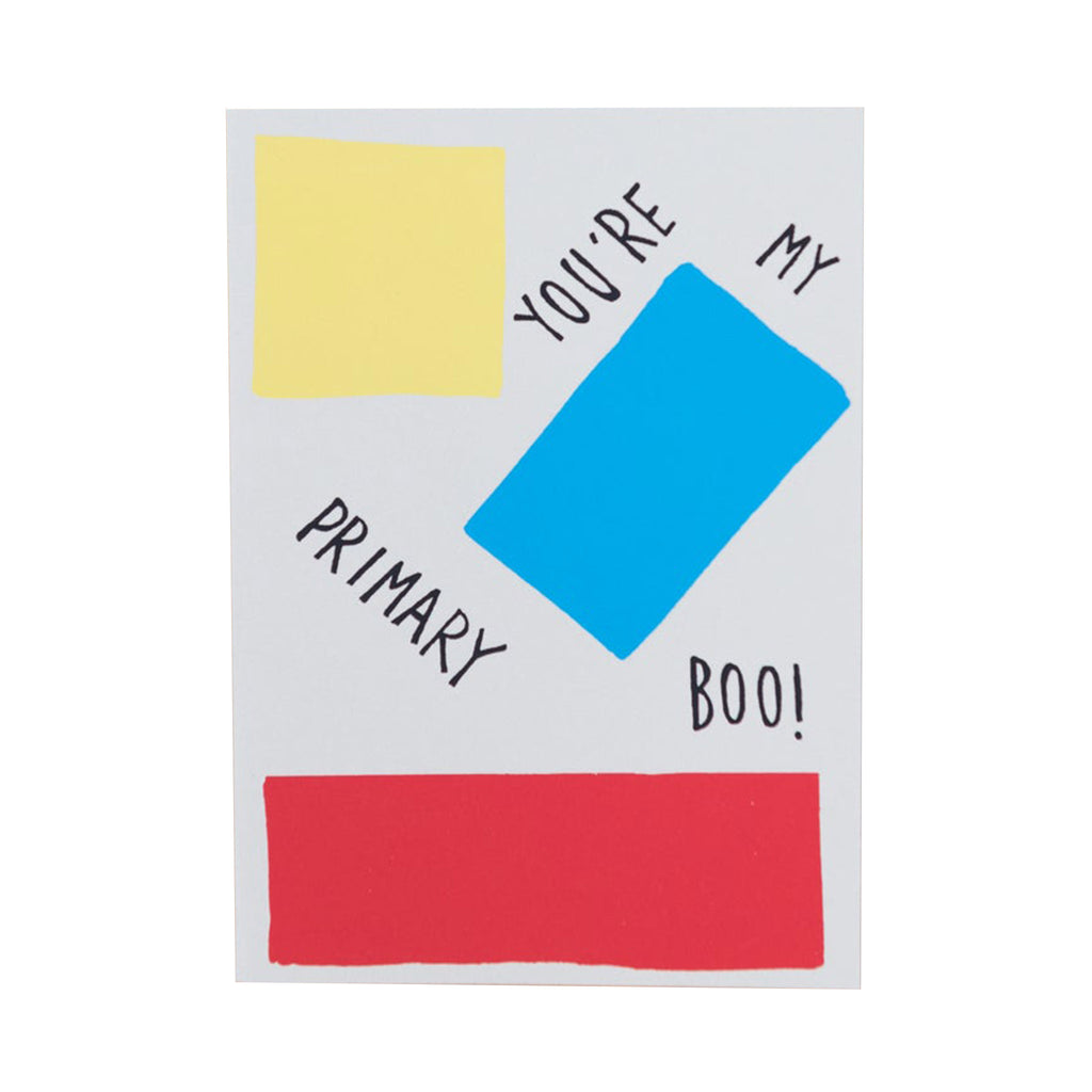 gold teeth brooklyn you're my primary boo valentine's day greeting card with envelope