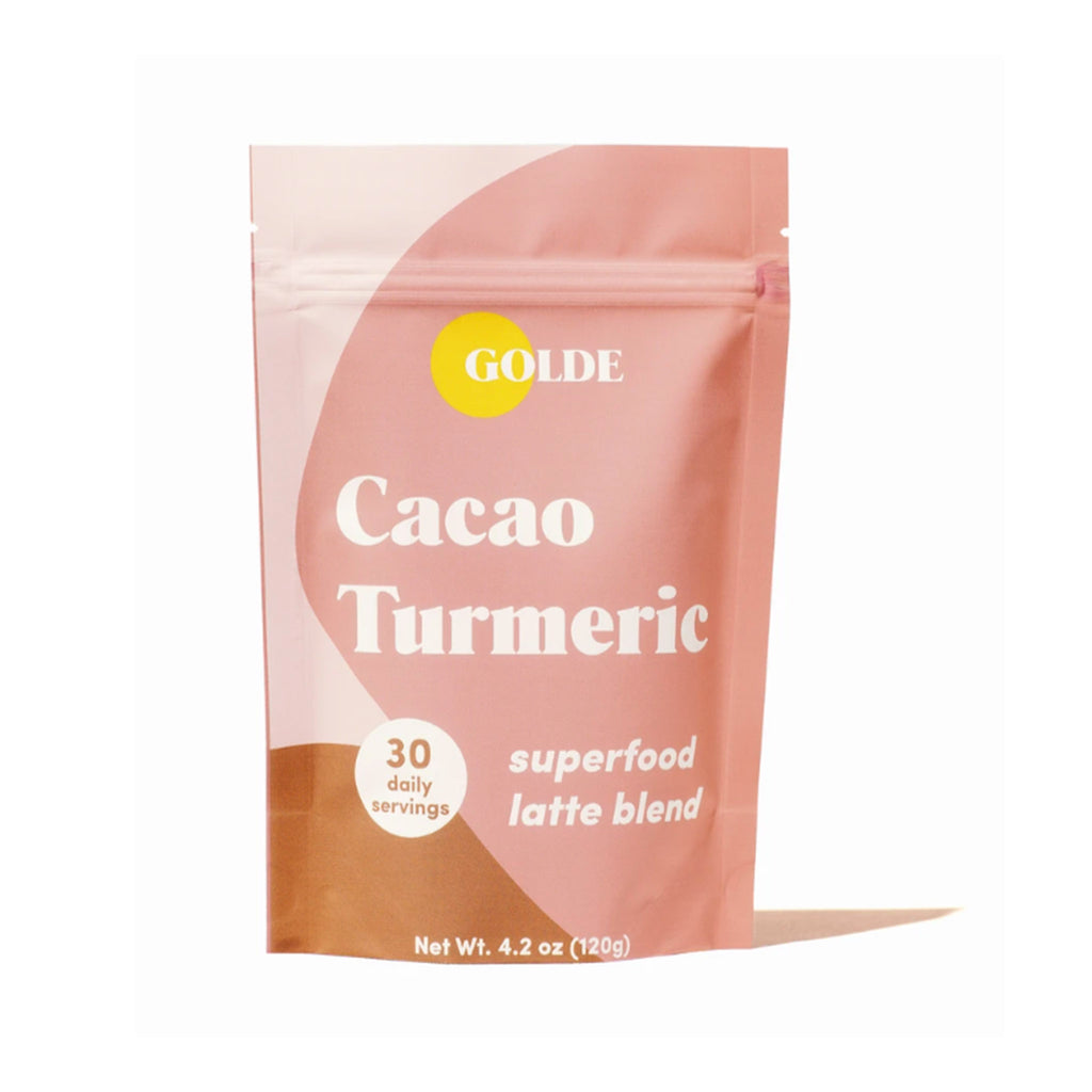 golde cacao turmeric superfood latte blend in packaging