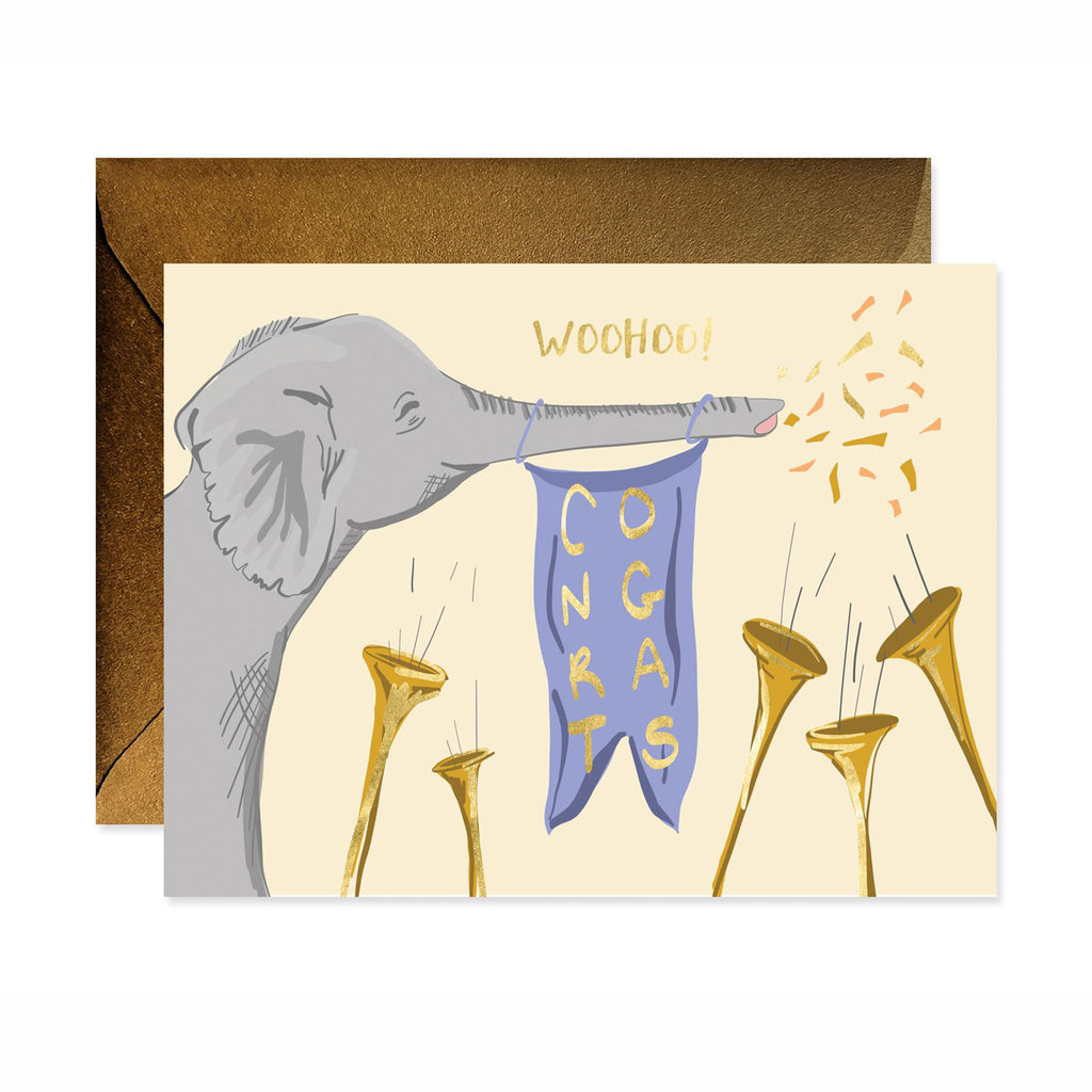 good juju ink woohoo congrats elephant congratulations graduation greeting card