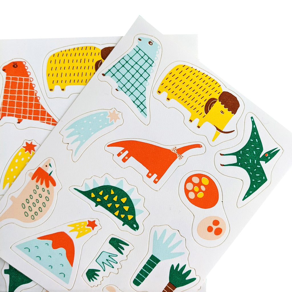 goodie goodie stickies prehistoric pals dinosaurs edible decorating stickers sheet for cupcake and cake toppers