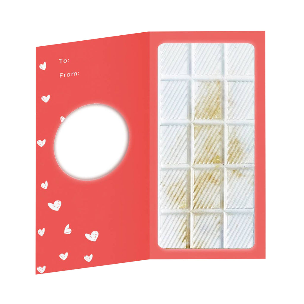 harper + ari love you champagne fizz scented bath bomb bar greeting card packaging inside