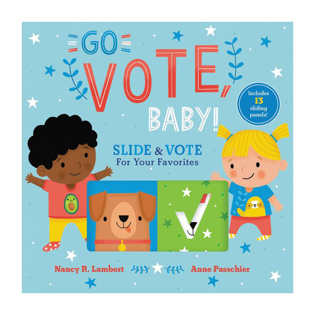 harpercollins go vote baby illustrated board book with sliding panels cover