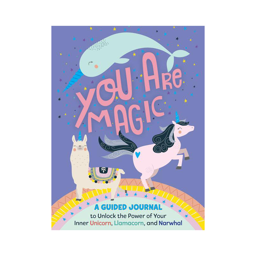 harpercollins you are magic a guided journal to unlock the power of your inner unicorn llamacorn and narwhal journal book cover