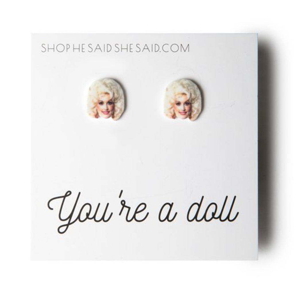 dolly parton stud earrings