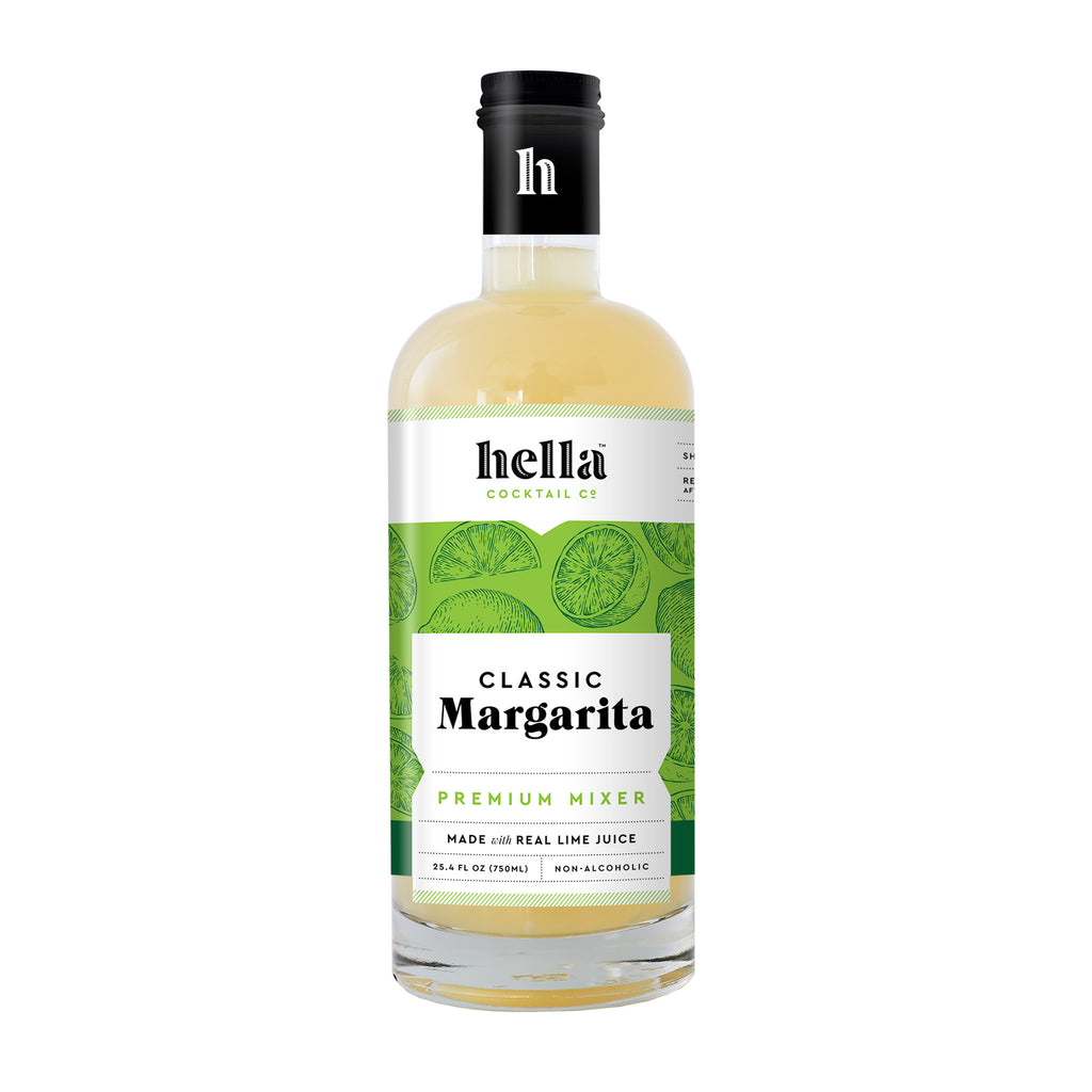 hella cocktail company classic margarita premium cocktail mixer in bottle
