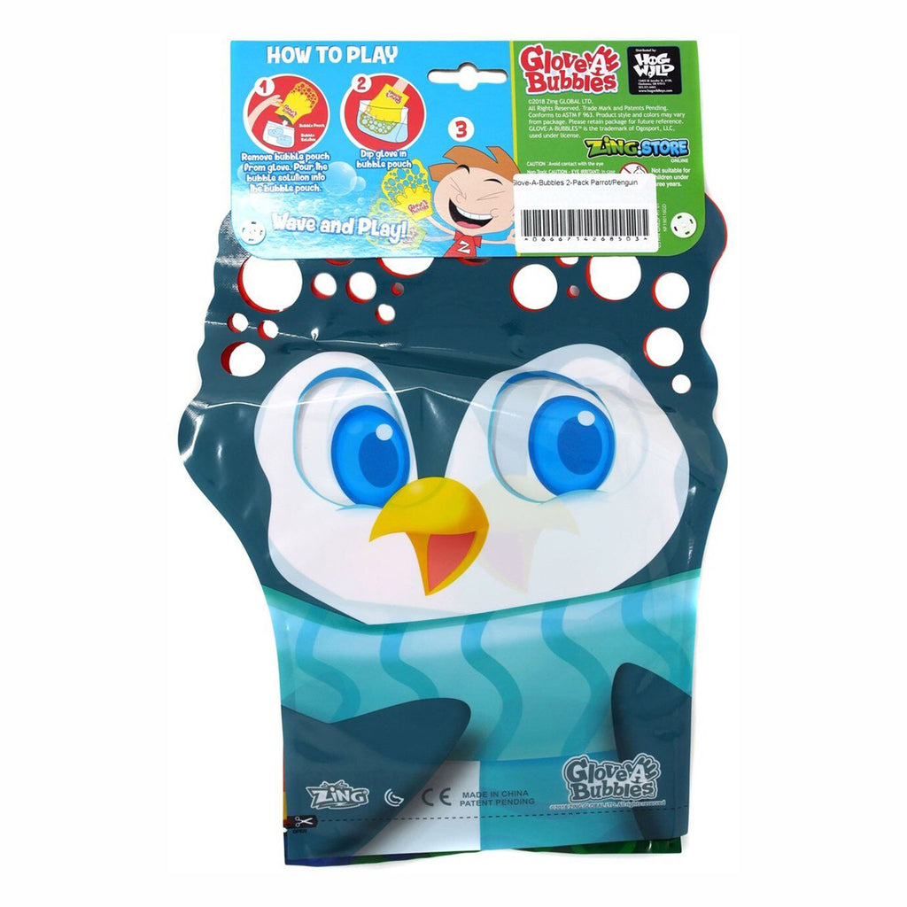 hog wild glove a bubbles animal two pack penguin side