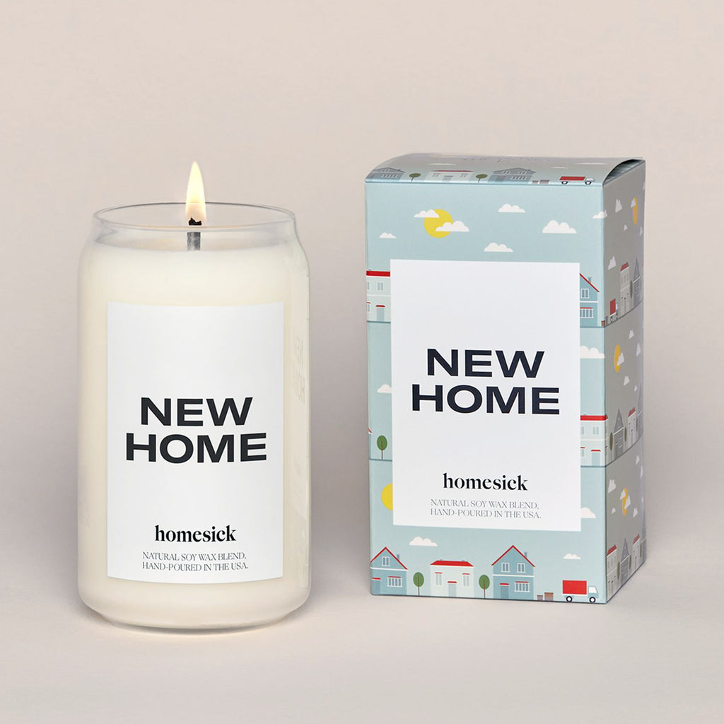 homesick new home scented natural soy wax blend candle with box