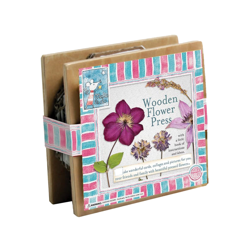 house of marbles mini wooden flower press in packaging