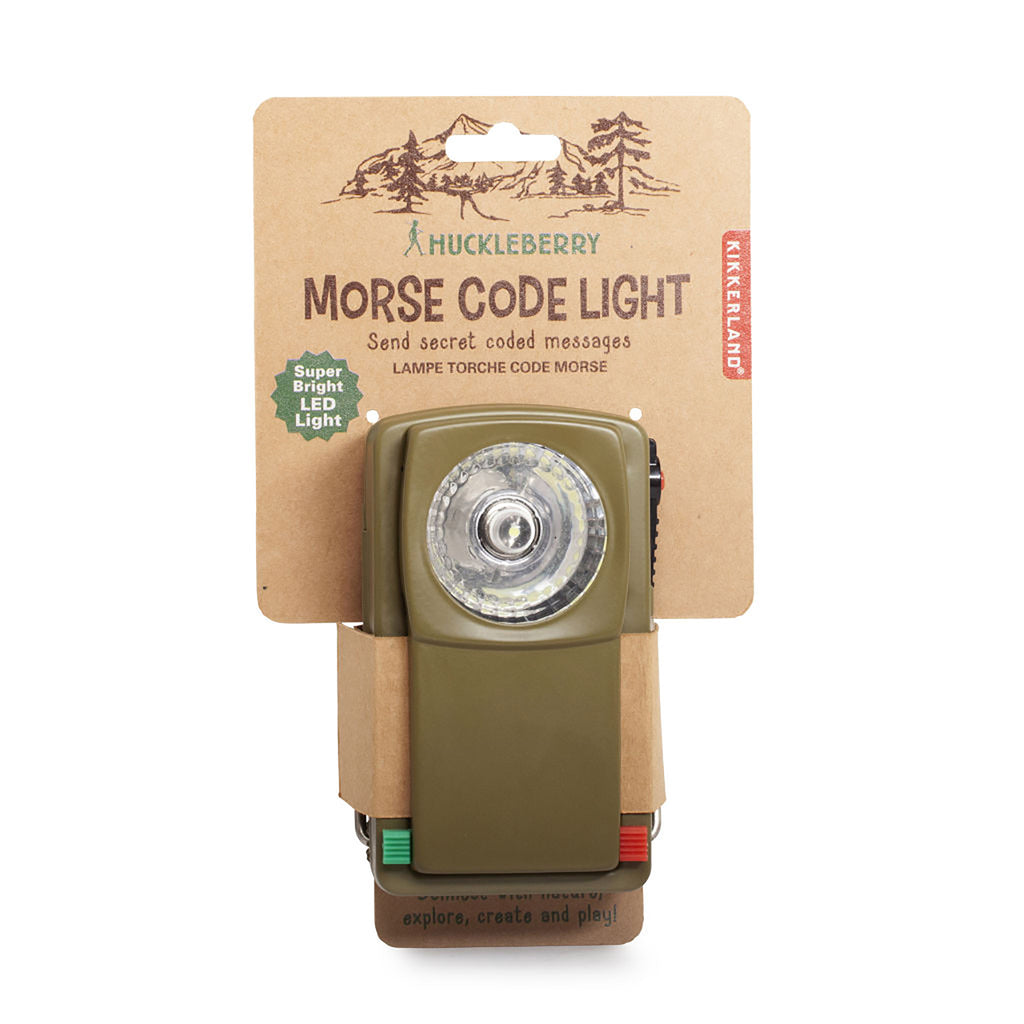 Huckleberry Morse Code Lamp package