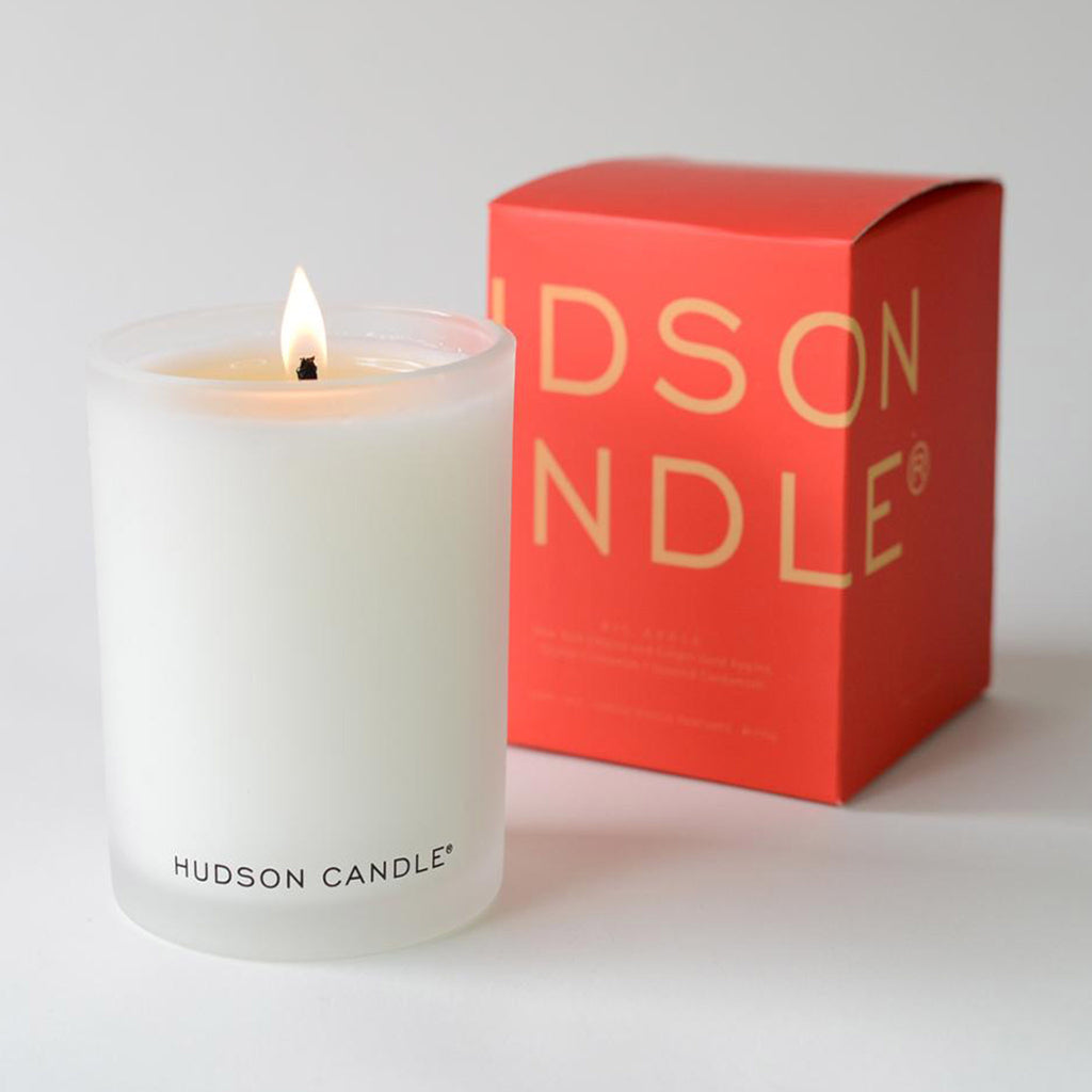 hudson candle big apple scented coconut wax candle with packaging