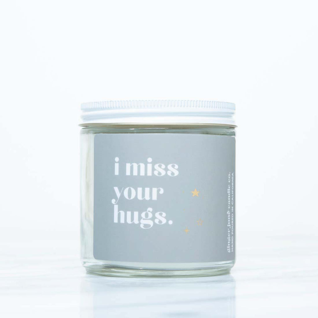 ginger june i miss your hugs scented soy wax jar candle