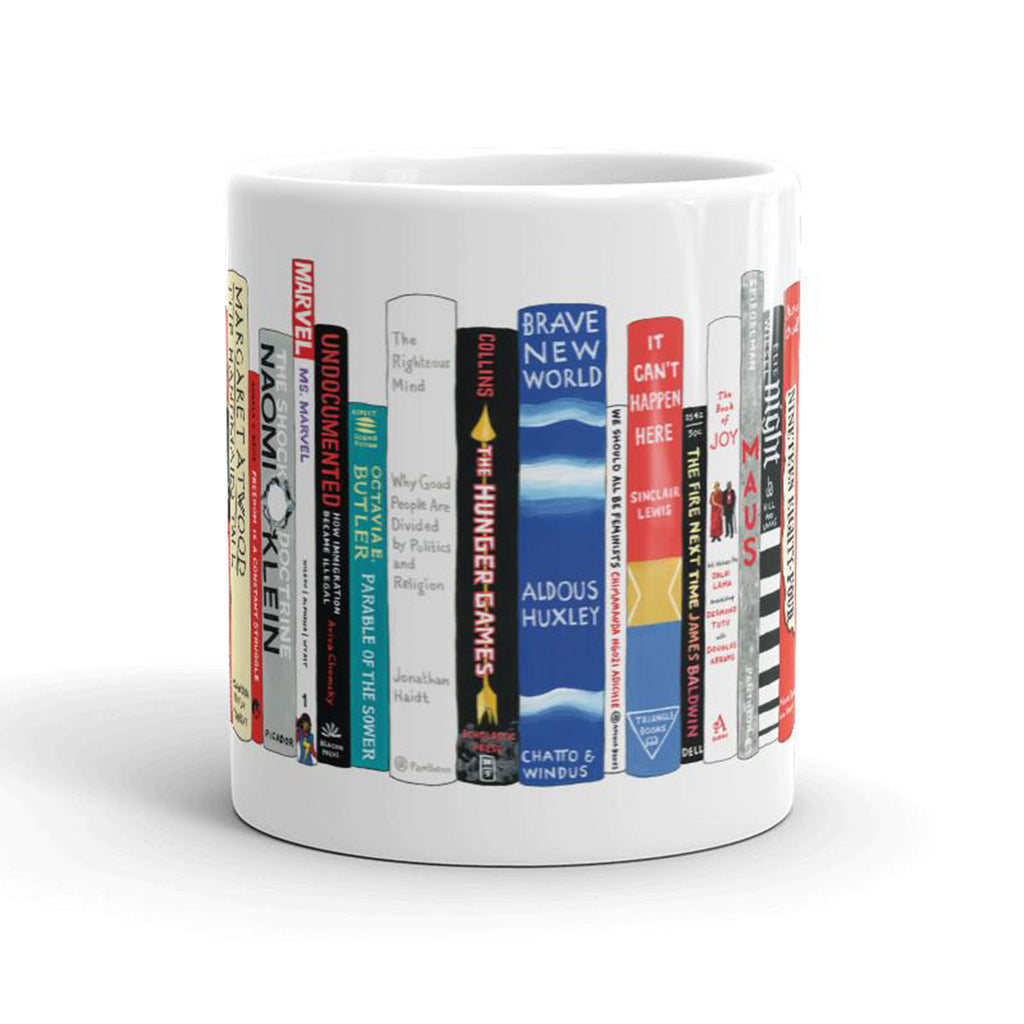 resistance books mug side