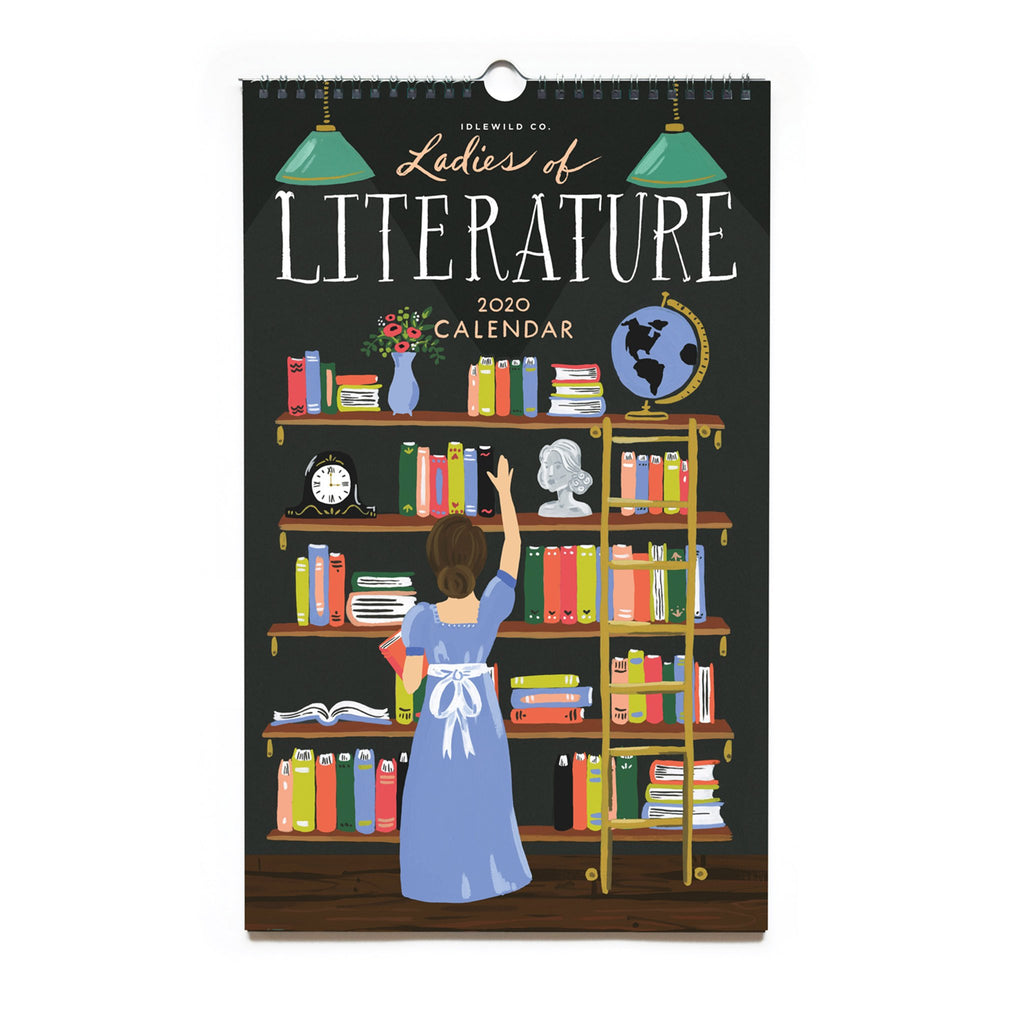 idlewild co 2020 ladies of literature monthly wall calendar cover