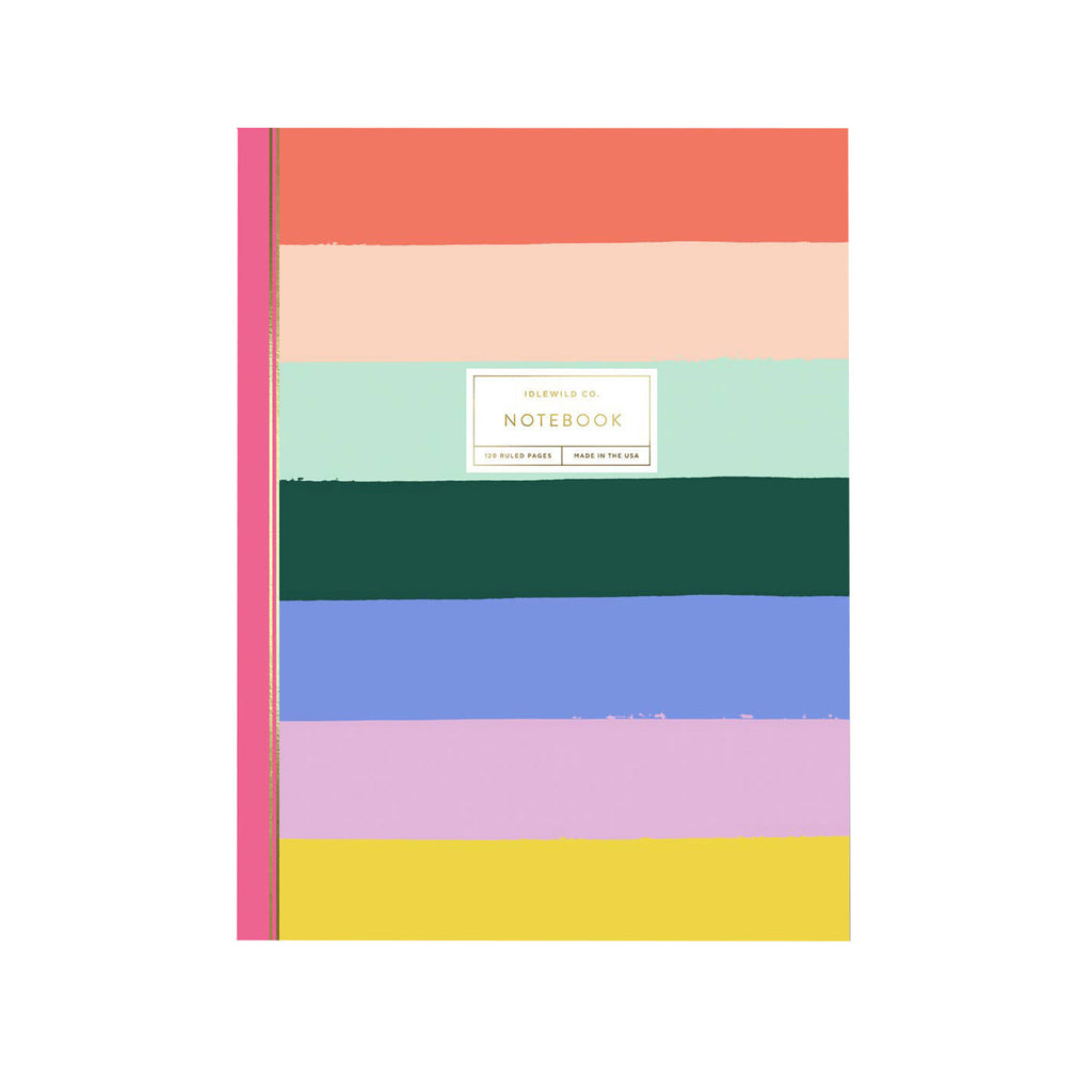 idlewild rainbow perfect bound notebook with ruled pages cover