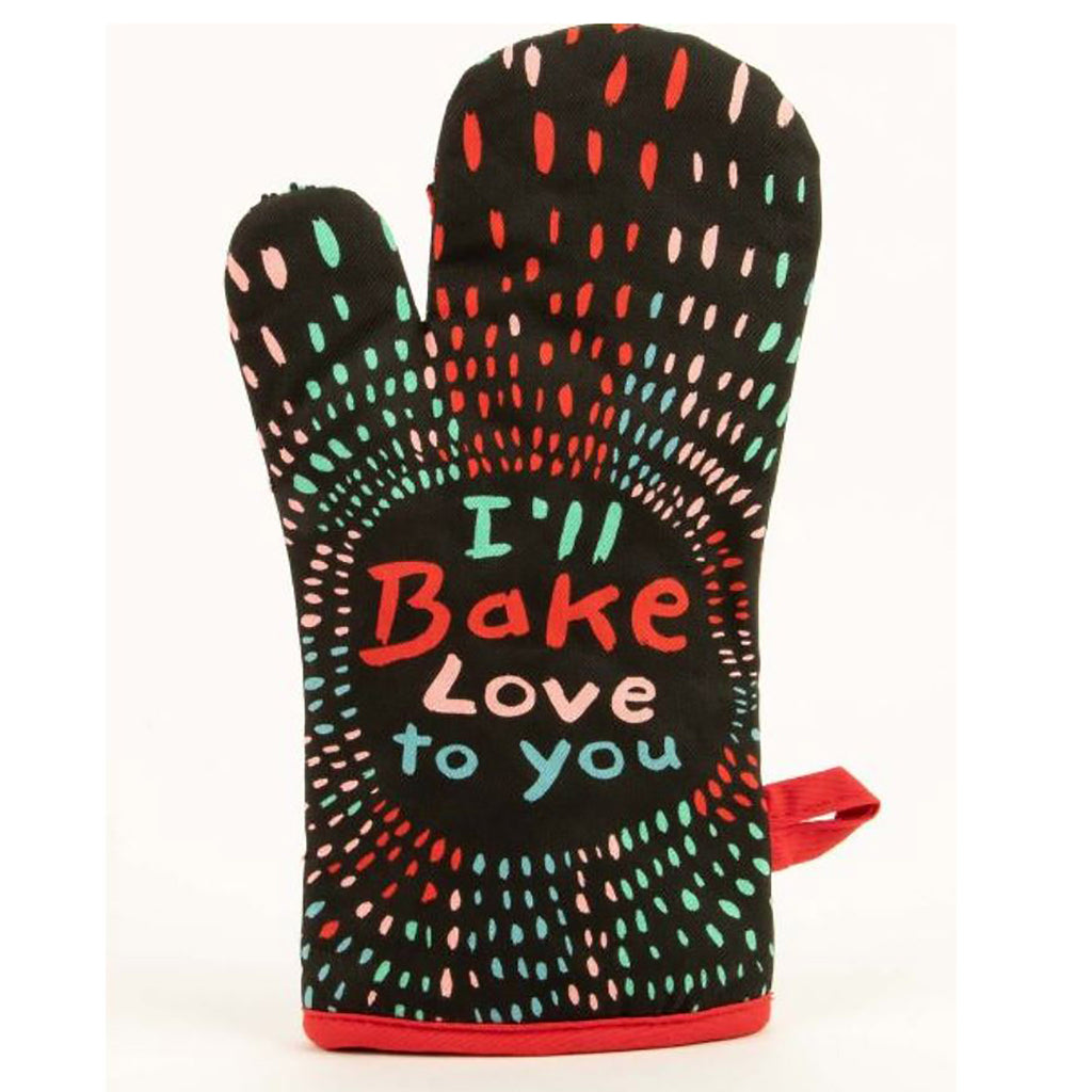 blue q i'll bake love to you cotton insulated oven mitt