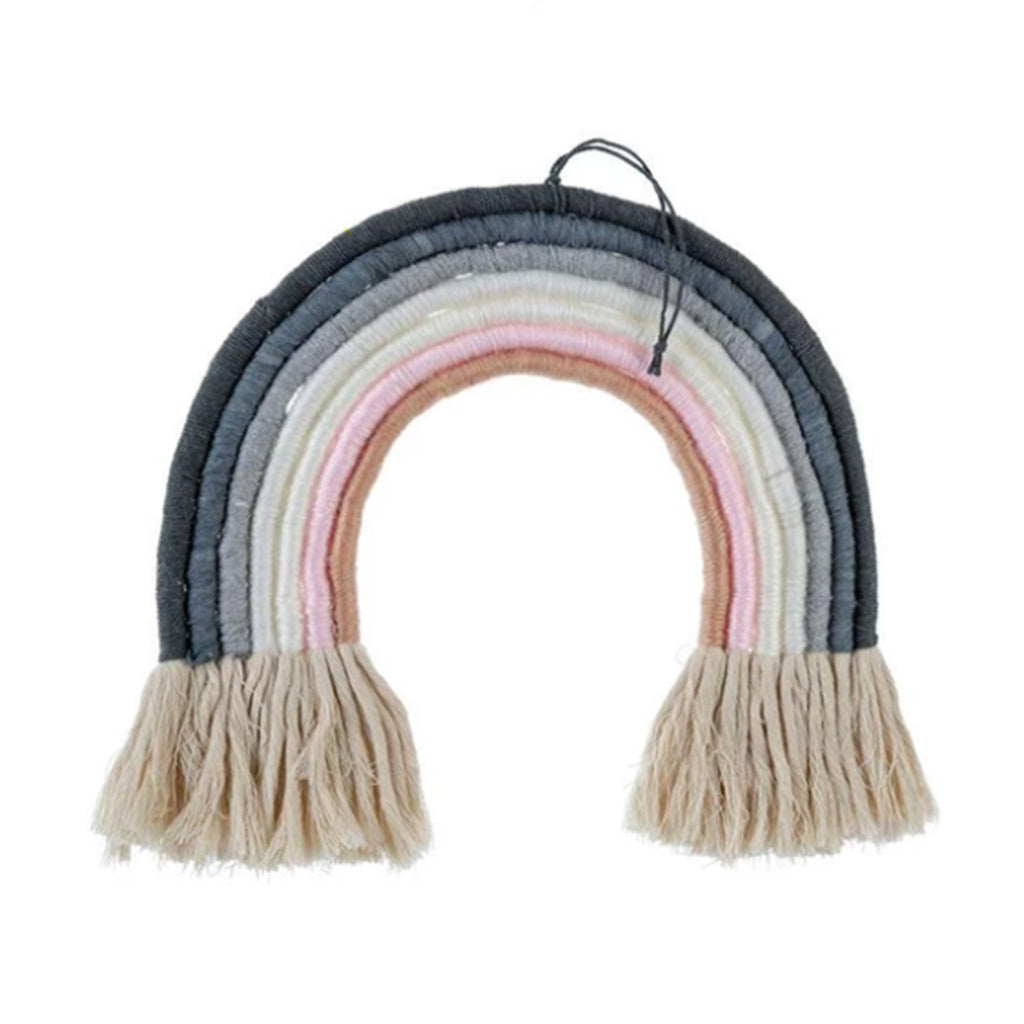 indaba rainbow wall hanging decoration in blue
