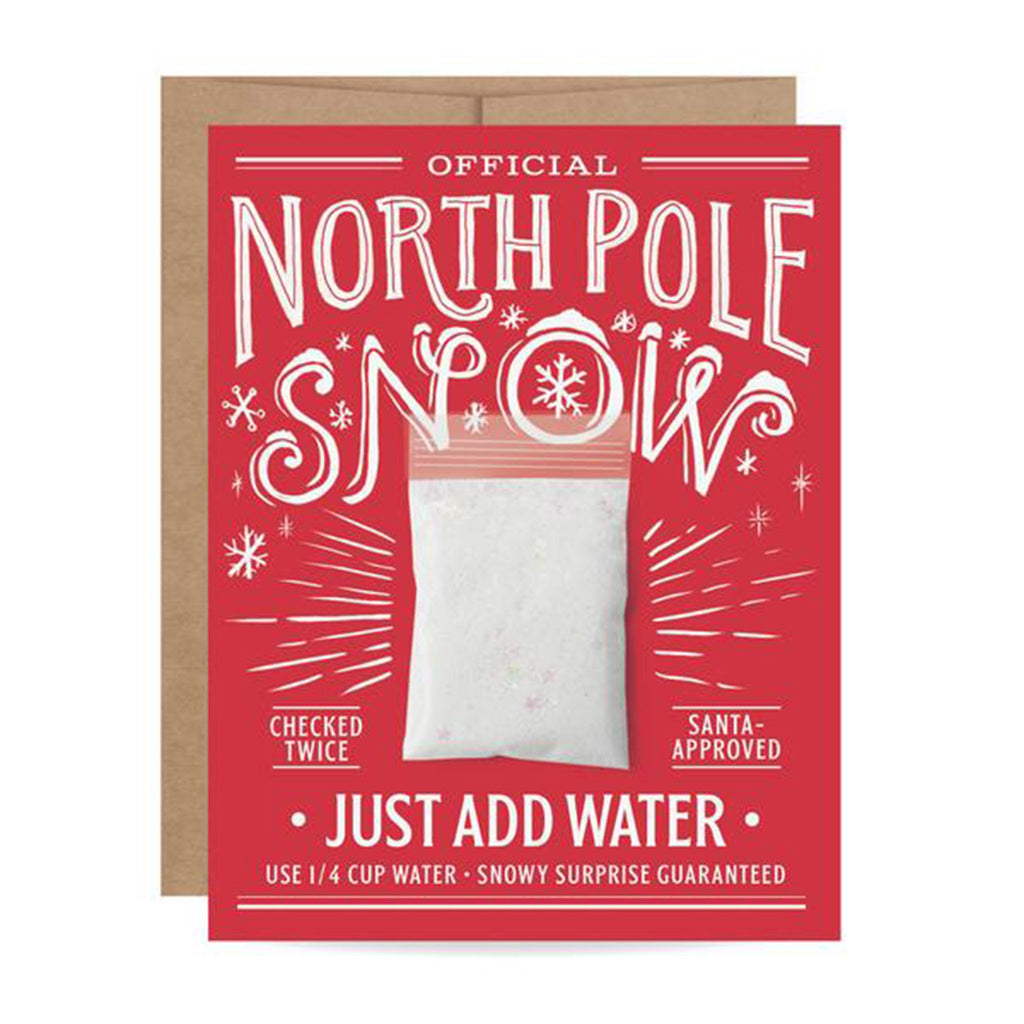 inklings paperie north pole snow card front with envelope