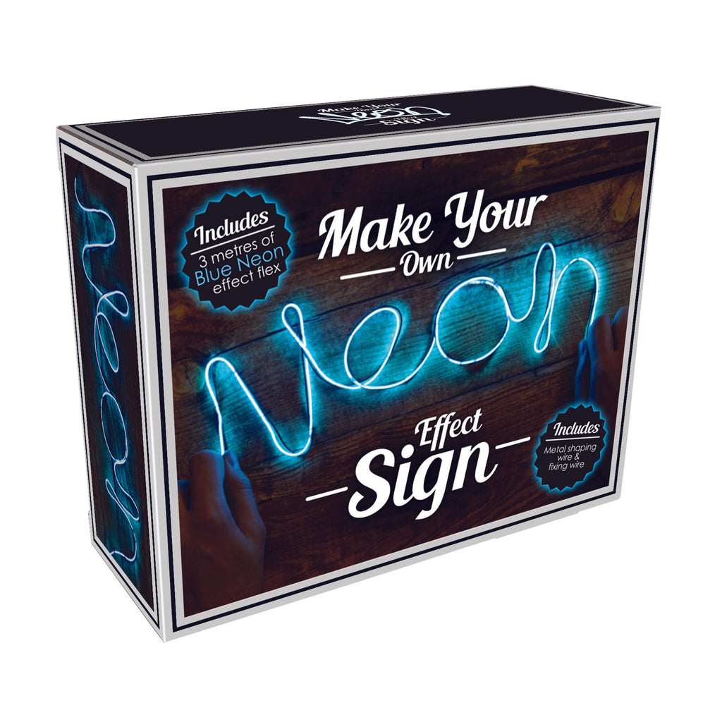 iscream blue diy neon effect sign kit box