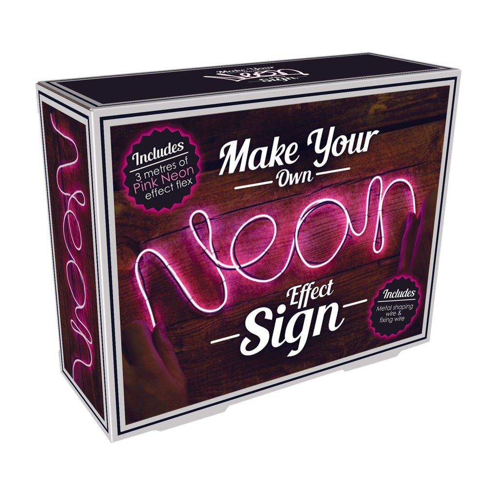 iscream pink diy neon effect sign kit box