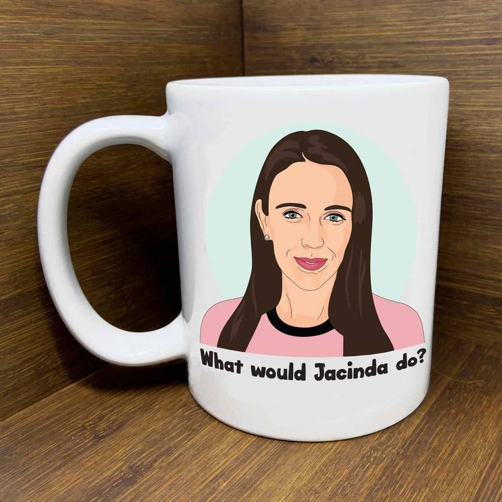 citizen ruth new zealand prime minister jacinda ardern what would jacinda do ceramic coffee mug