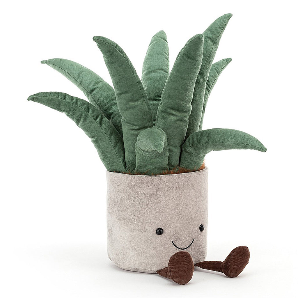 jellycat amuseable big aloe vera plant plush stuffie toy front
