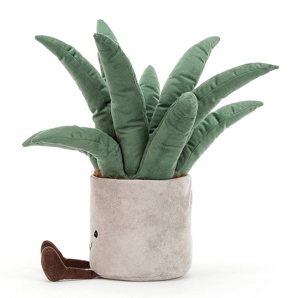 jellycat amuseable big aloe vera plant plush stuffie toy side