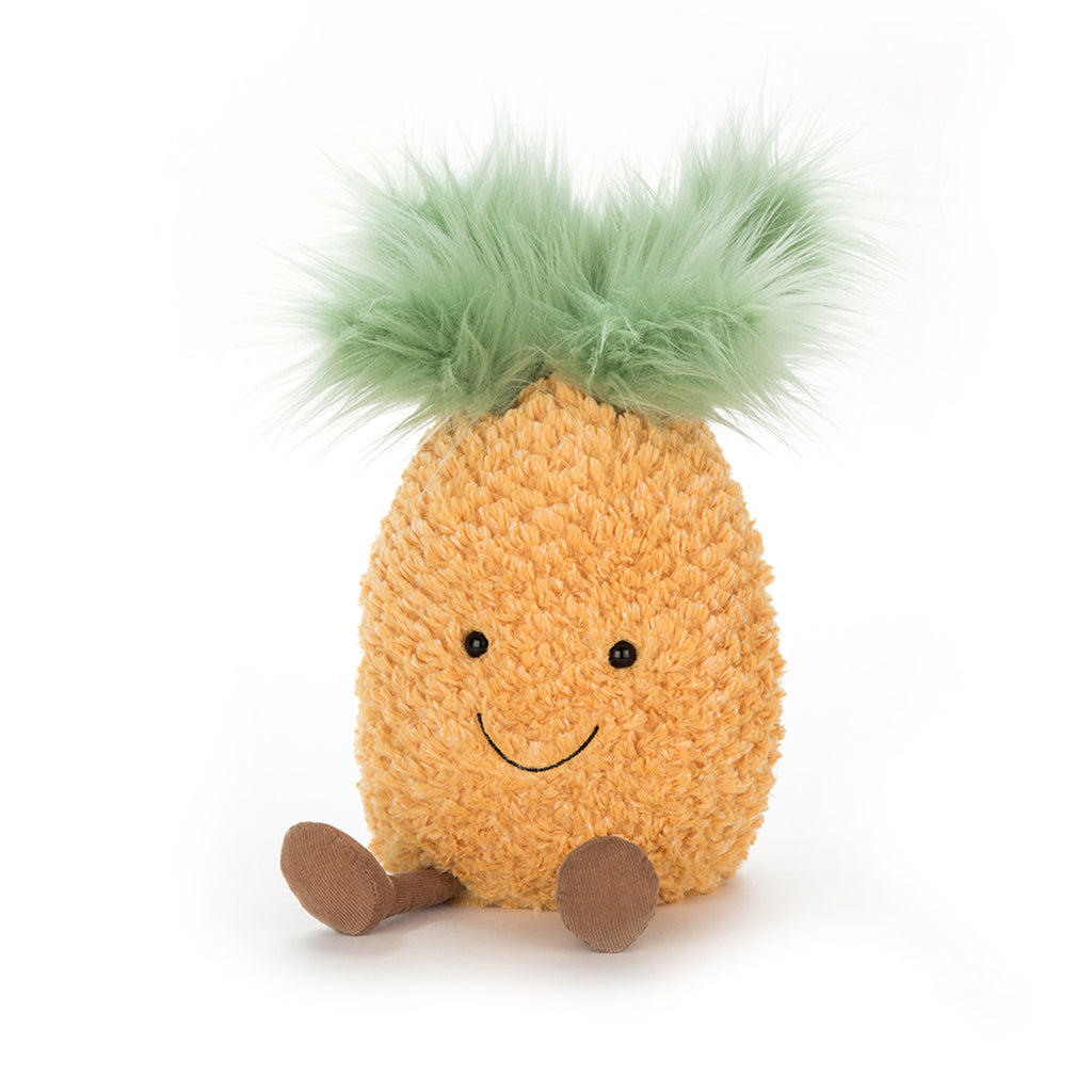 jellycat amuseable pineapple small 8 inch plush stuffed toy front