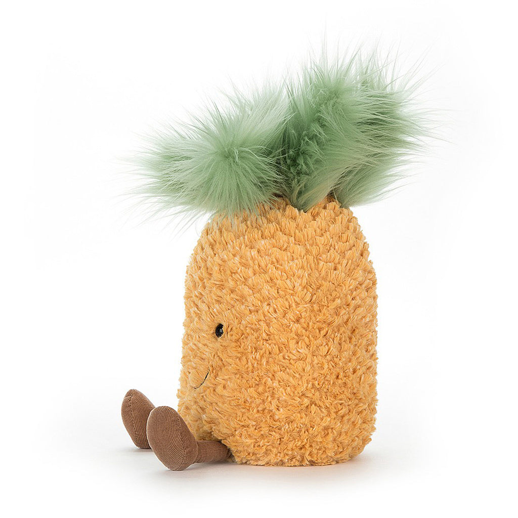 jellycat amuseable pineapple small 8 inch plush stuffed toy side