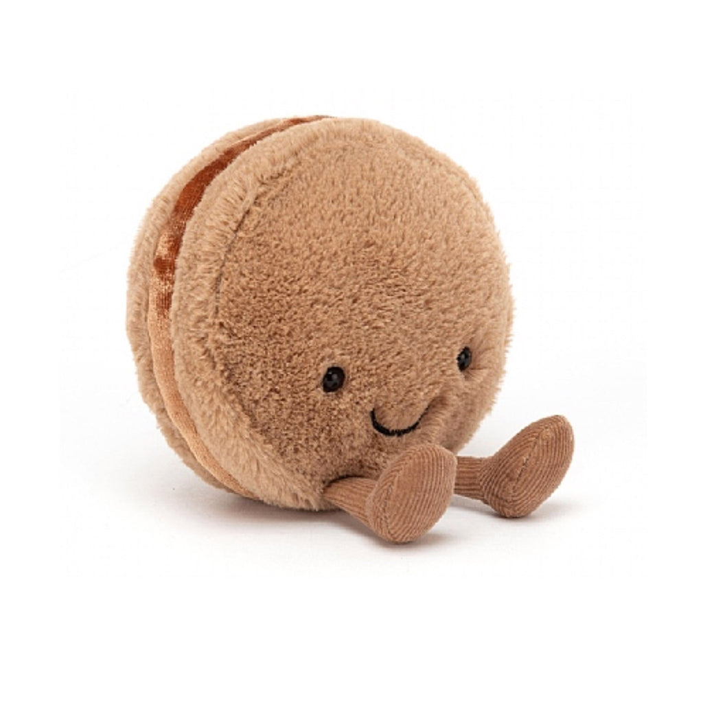 jellycat chocolate brown macaron meringue stuffed plush toy