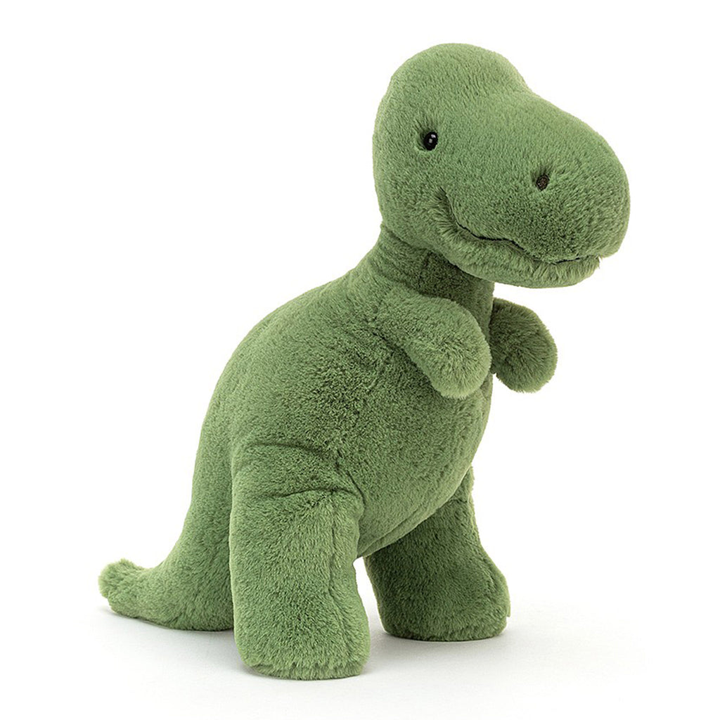 jellycat fossilly t-rex dinosaur plush stuffie toy front