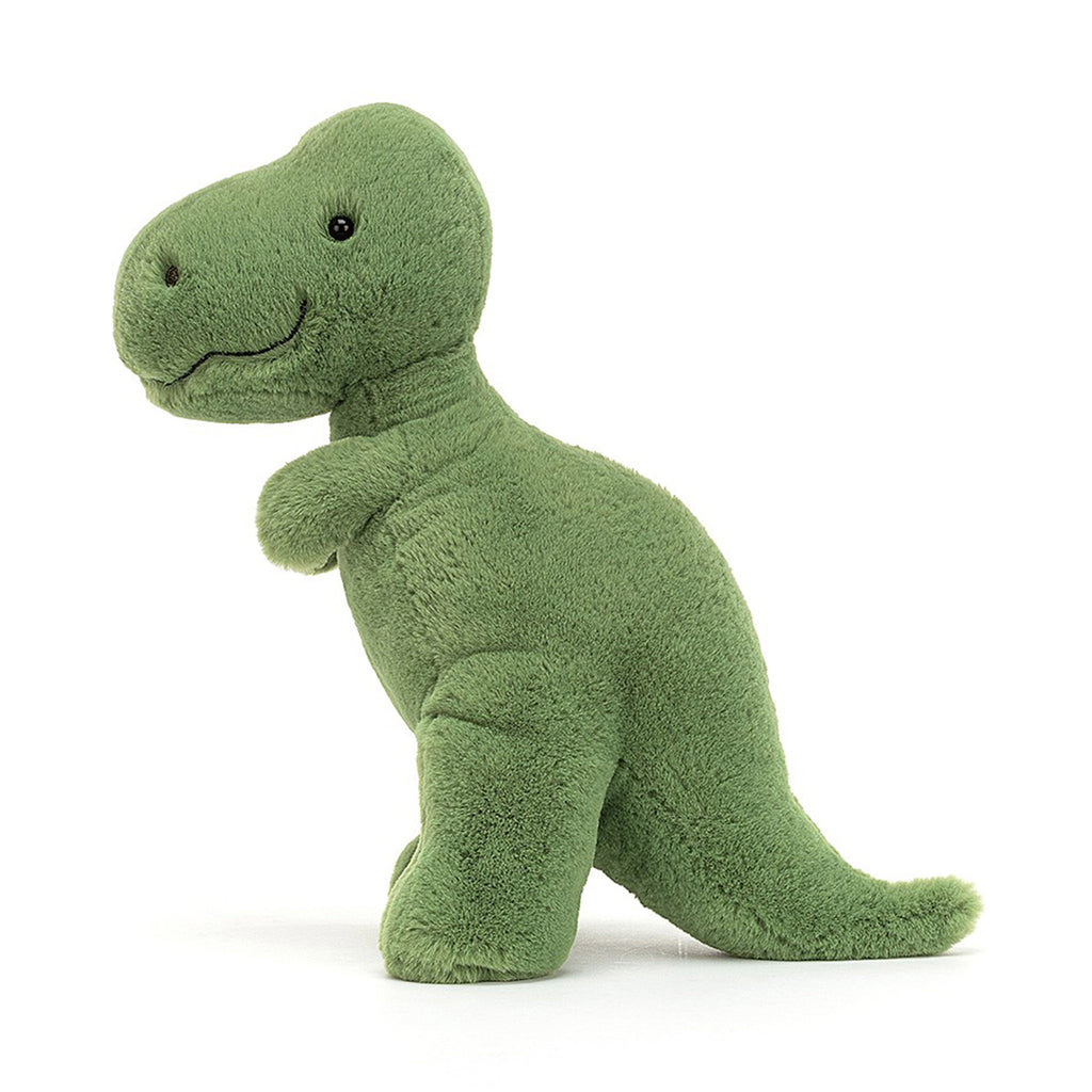 jellycat fossilly t-rex dinosaur plush stuffie toy side
