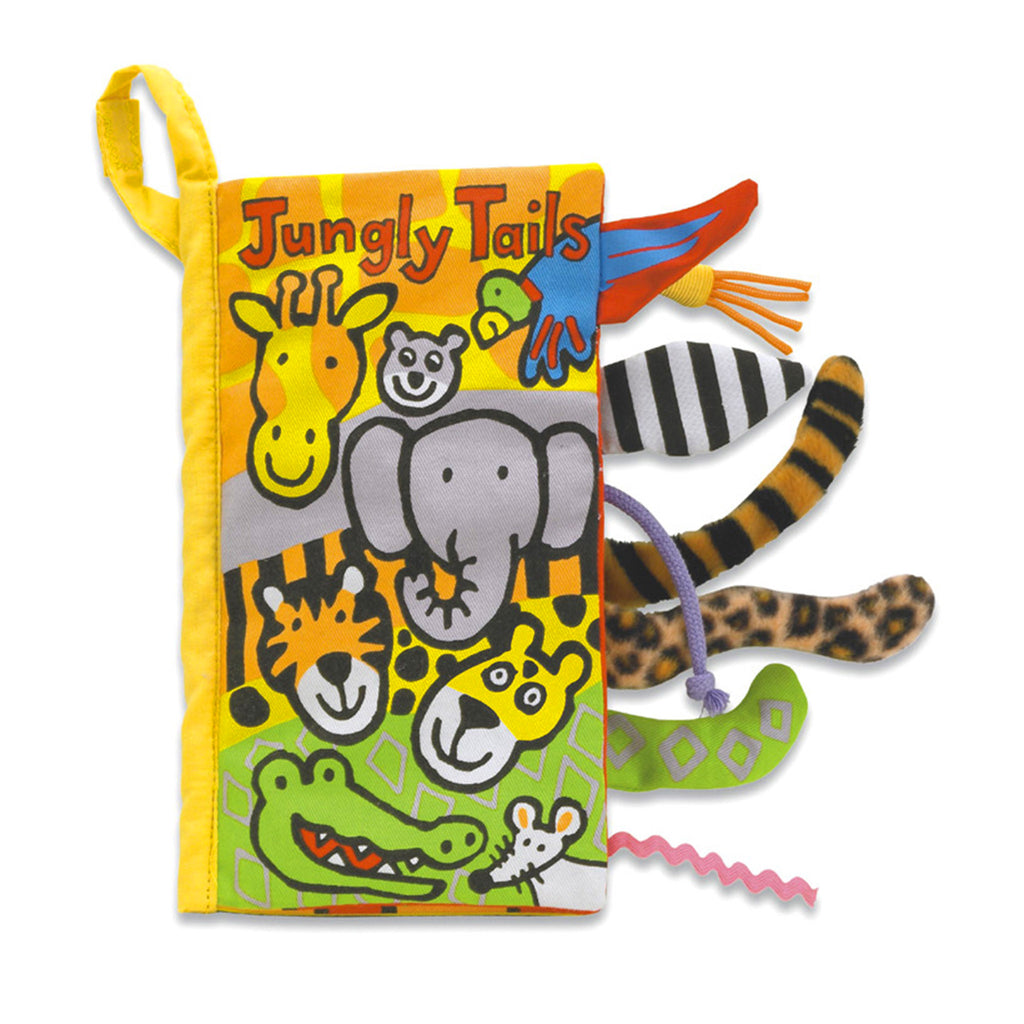 jellycat jungly tails soft interactive baby book front