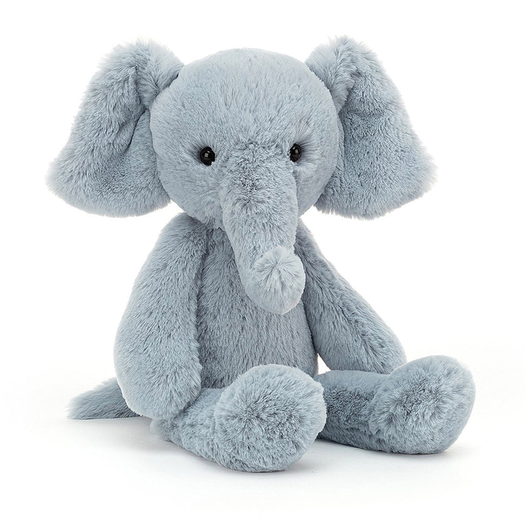 jellycat snugglet bobbie elly the elephant plush stuffie toy front