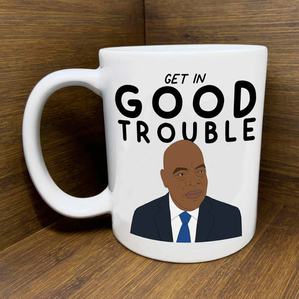 citizen ruth john lewis get in good trouble ceramic coffee mug
