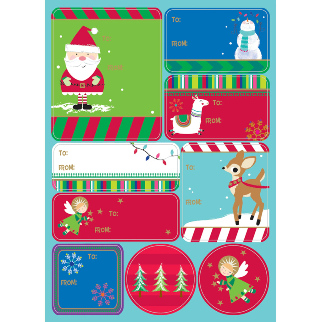 Holiday Gift Labels Sheets