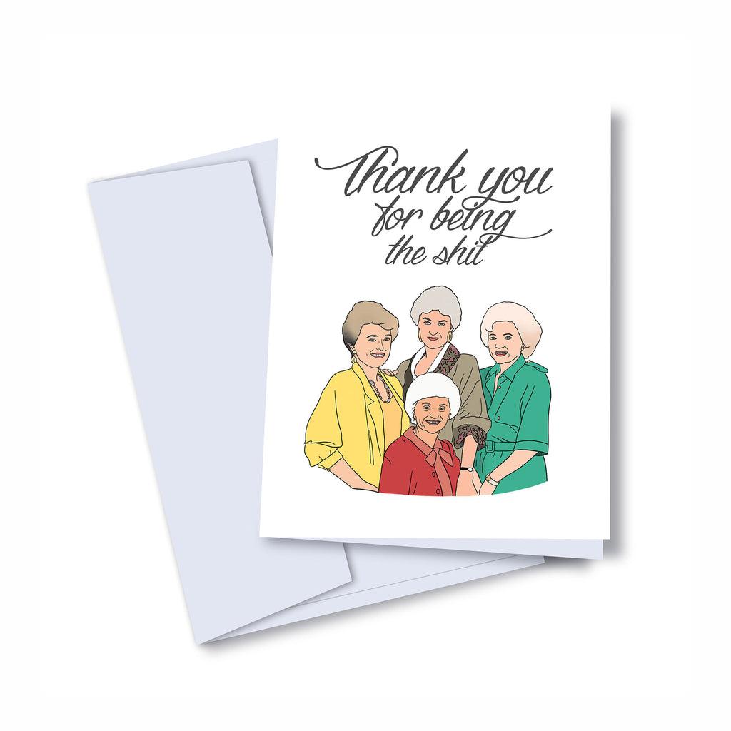 kaleidadope golden girls thank you blank greeting card with envelope