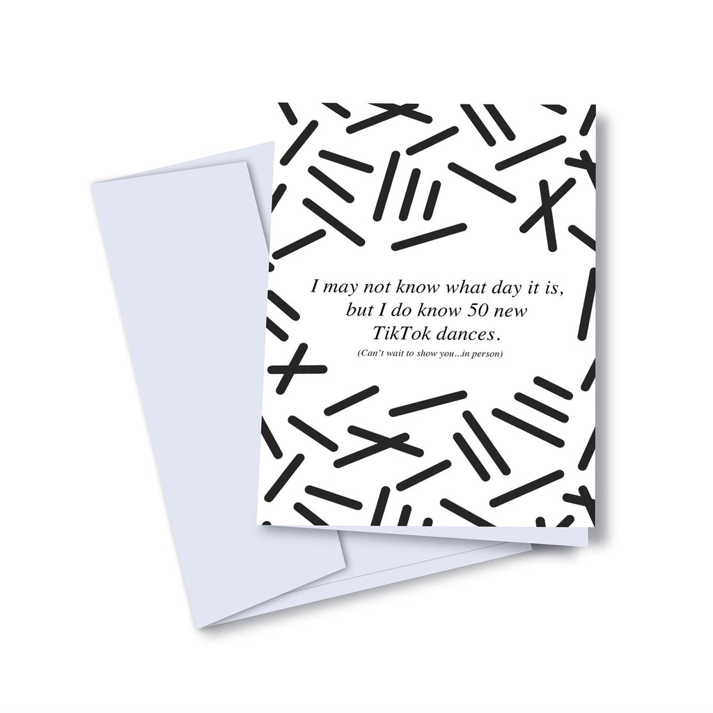 kaleidadope quarantine confusion blank greeting card with envelope