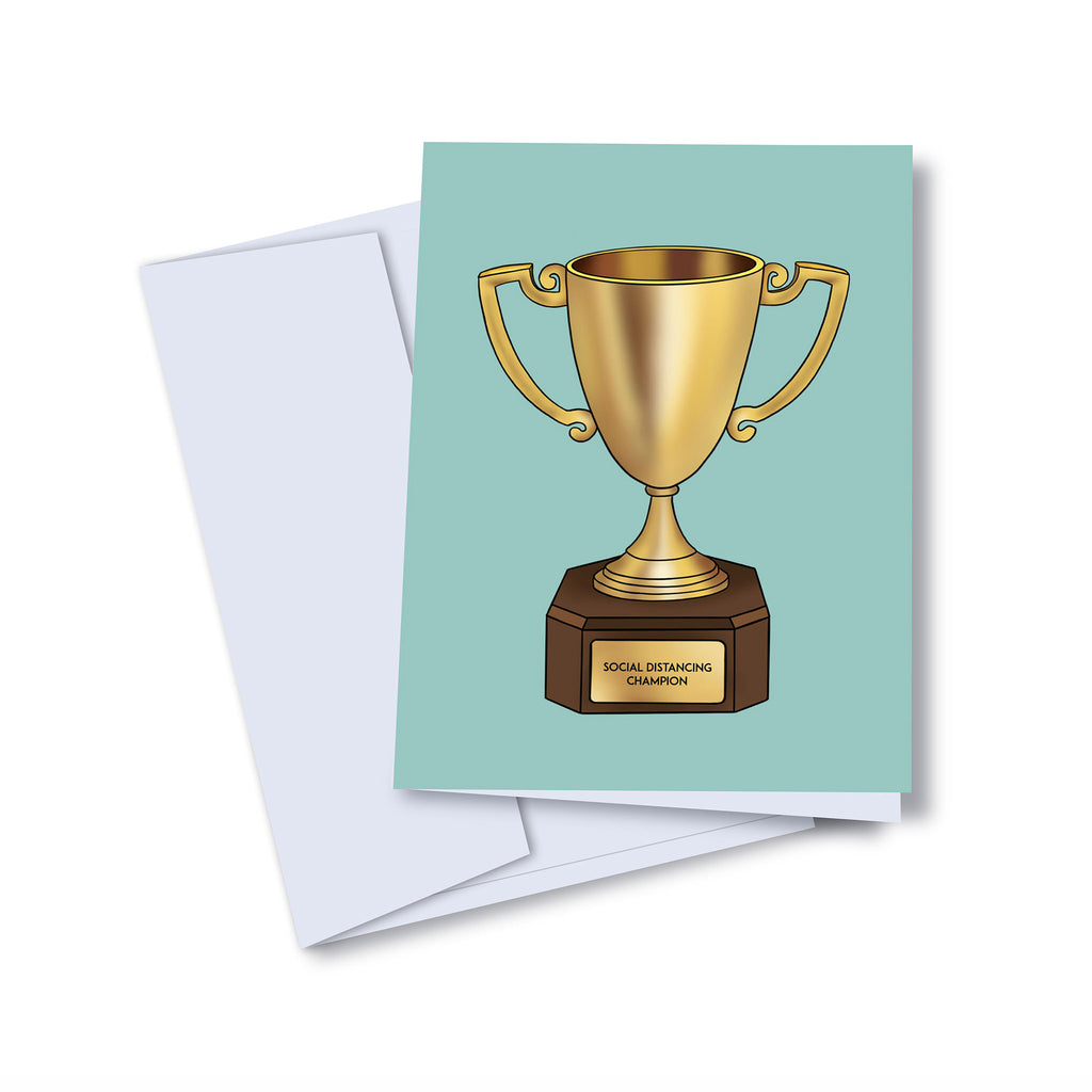 kaleidadope social distancing champion blank greeting card with envelope