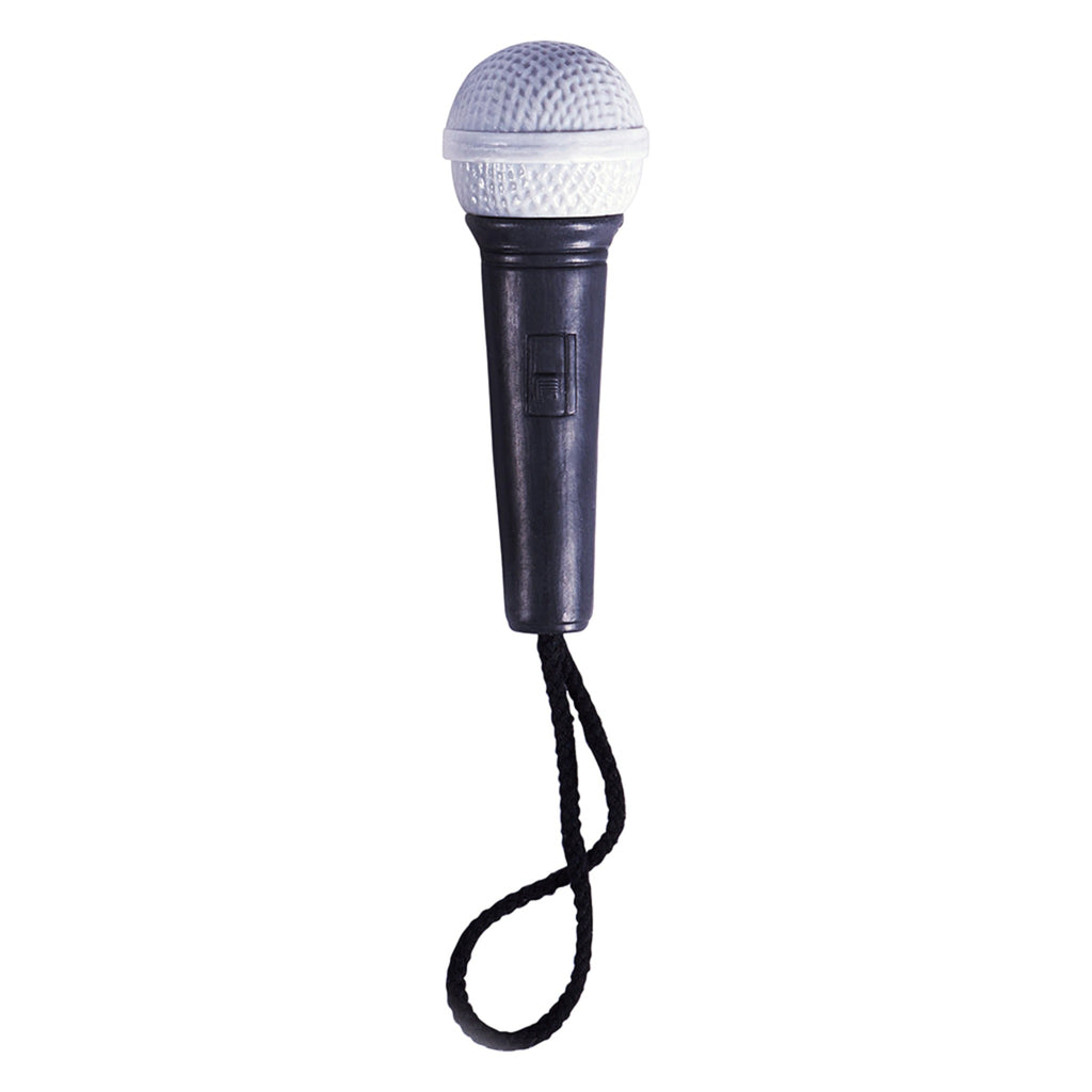 black and silver microphone soap on a rope