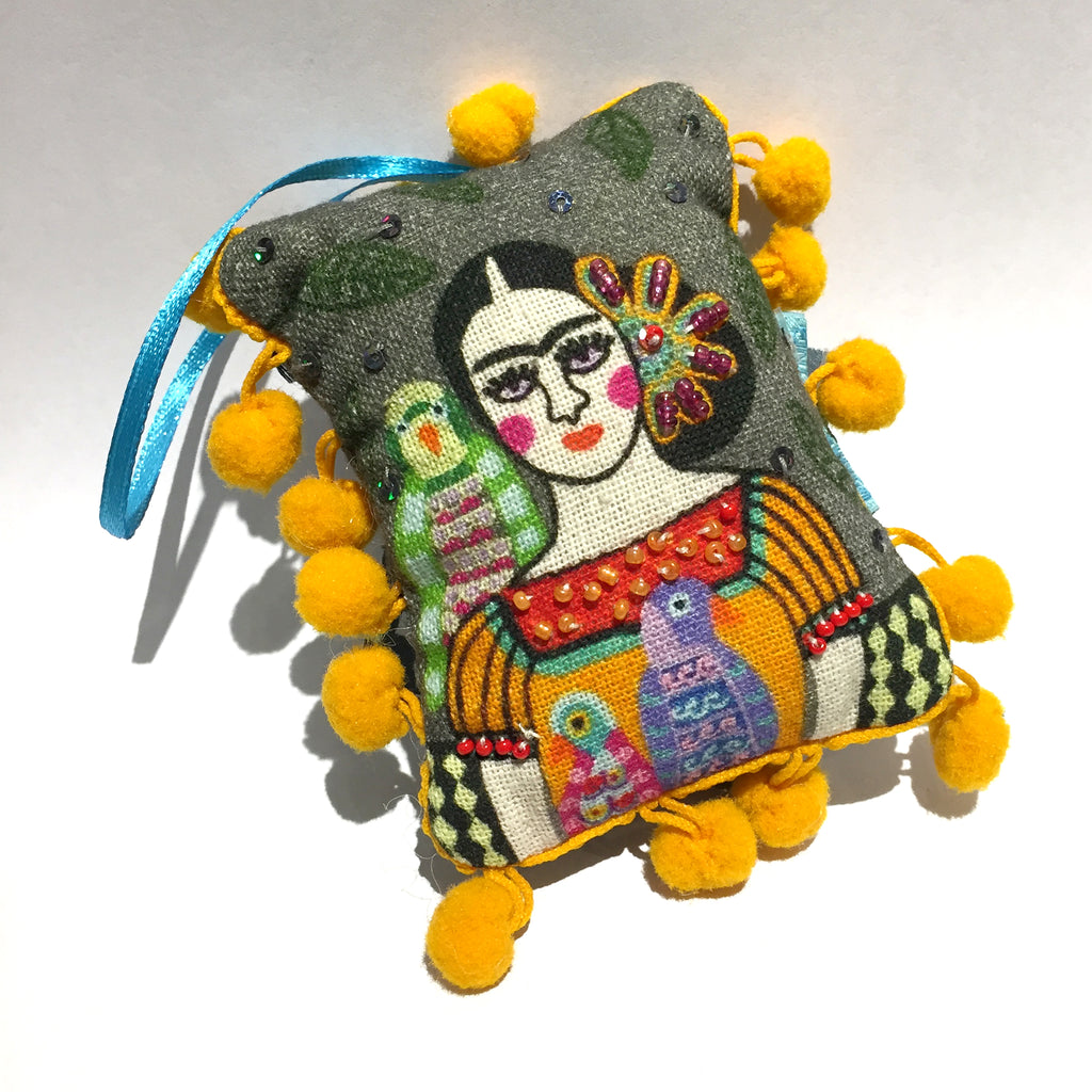frida stuffed ornament