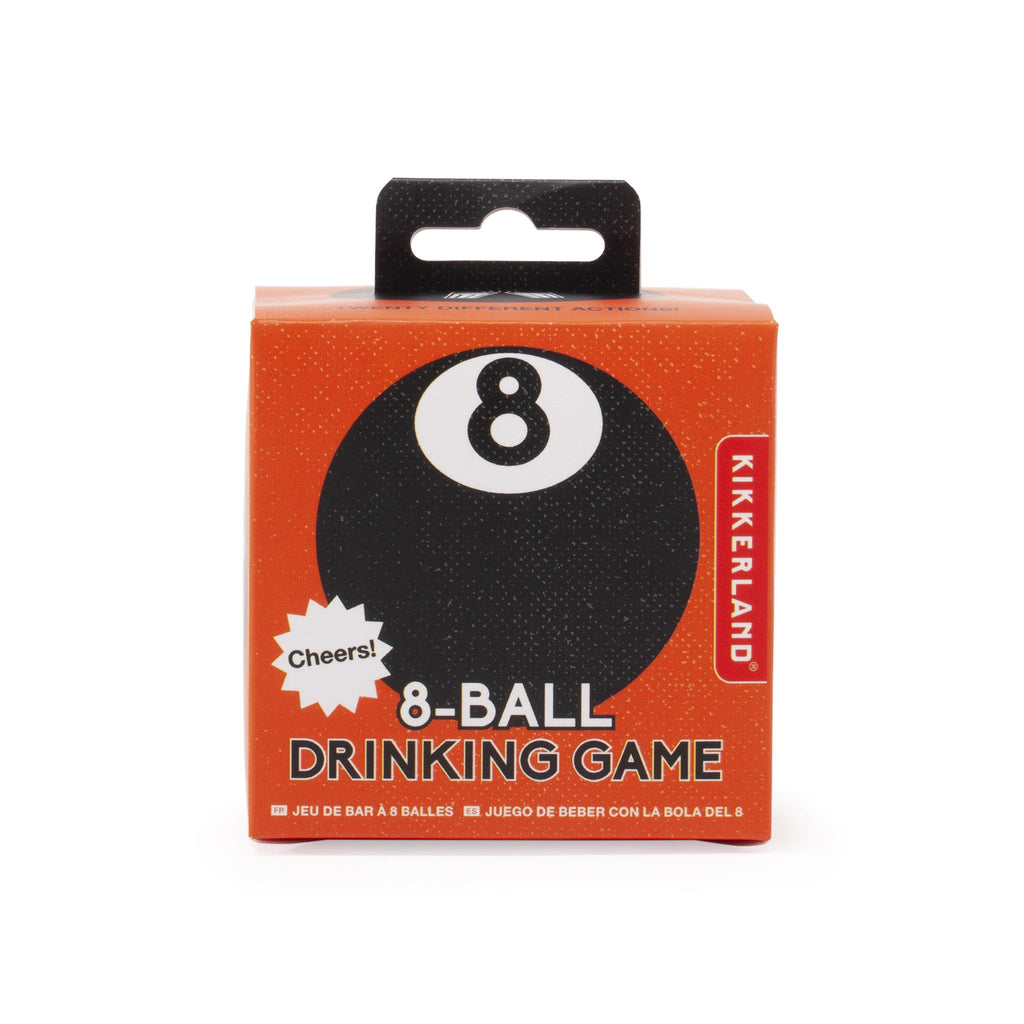 kikkerland 8 ball drinking game box front
