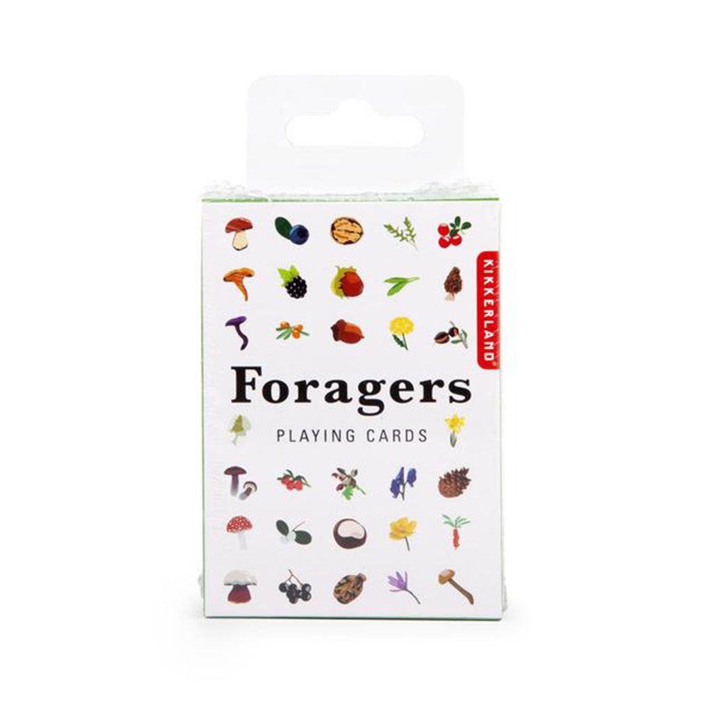 kikkerland foragers playing cards deck box