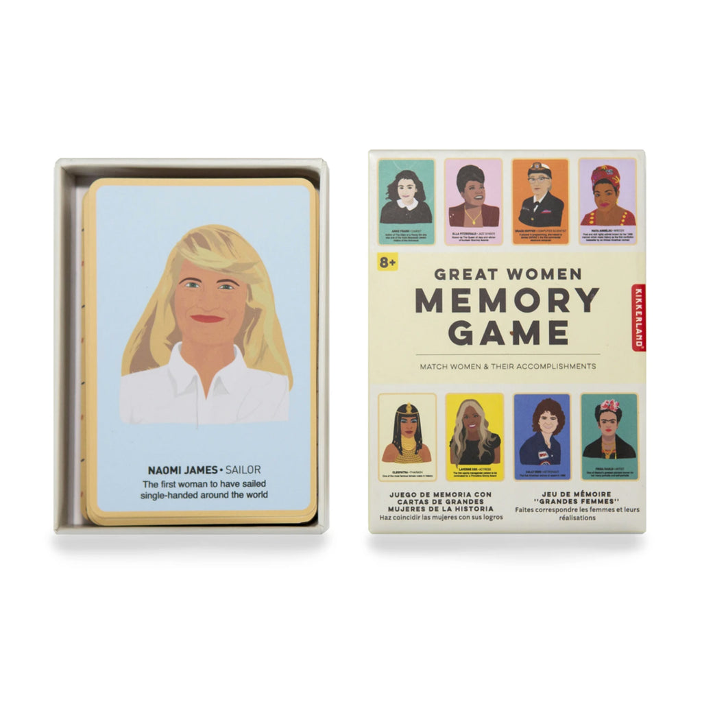 kikkerland great women memory game