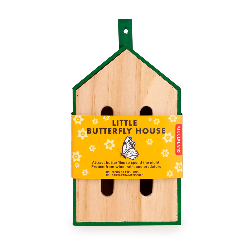 kikkerland little butterfly house habitat hotel front in packaging