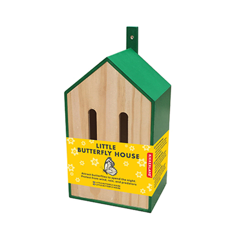 kikkerland little butterfly house habitat hotel side angle in packaging